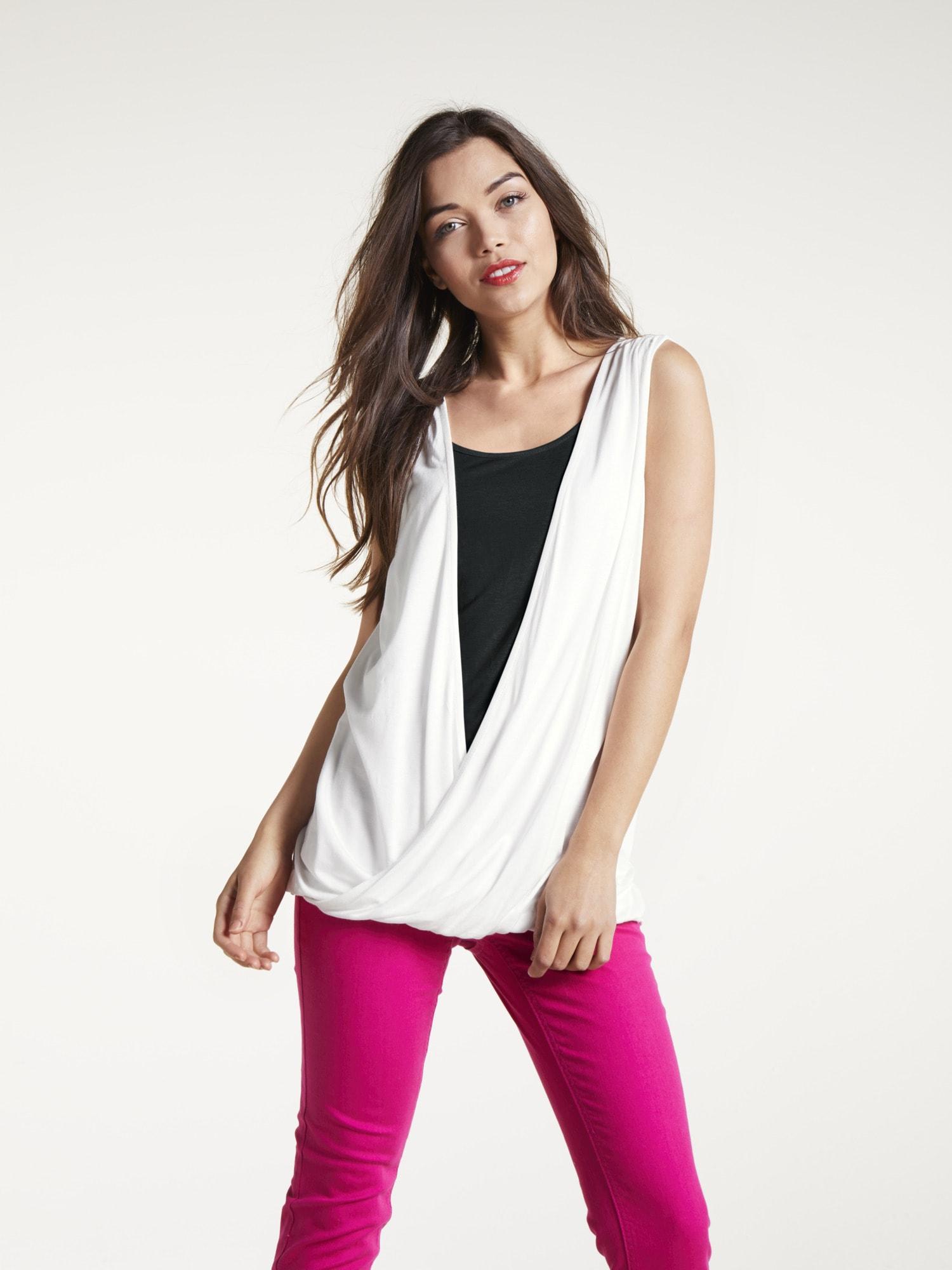 heine CASUAL Shirttop Two-in-One Optik | Bekleidung > Tops > 2-in-1-Tops | Weiß | Viskose | Heine Casual