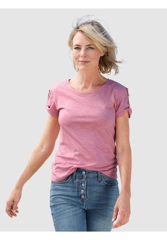 Dress In Rundhalsshirt, mit kleinem Riegeldetail am Arm kaufen