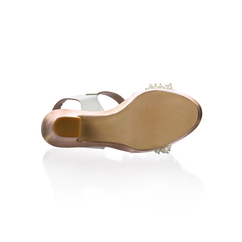 Alba Moda Sandalette, mit üppig besetztem Riemen