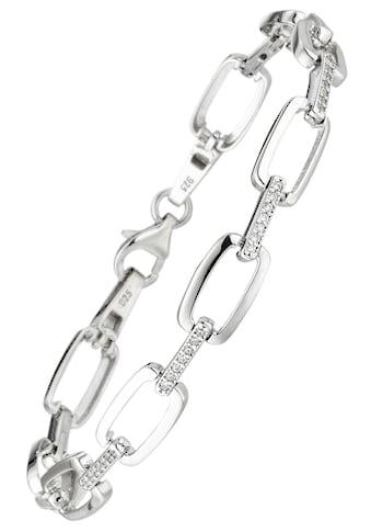JOBO Armband, 925 Silber mit 56 Zirkonia 19 cm kaufen