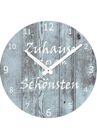 Spiegelprofi GmbH Wanduhr »Zuhause« kaufen