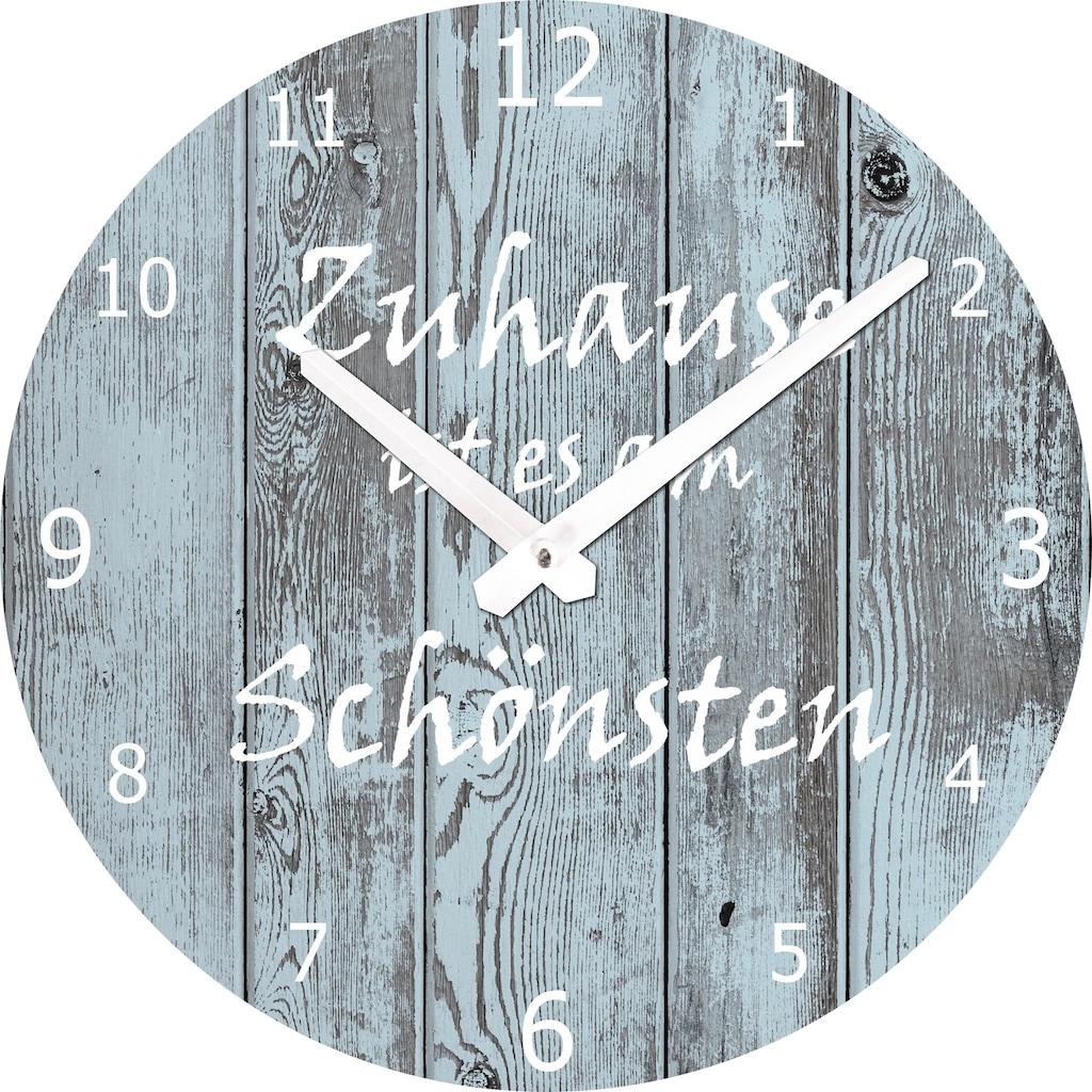Spiegelprofi GmbH Wanduhr »Zuhause«