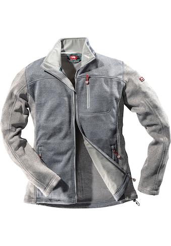 Bullstar Strickfleecejacke »Ultra«, marine/grau, Gr. S - XXXL kaufen