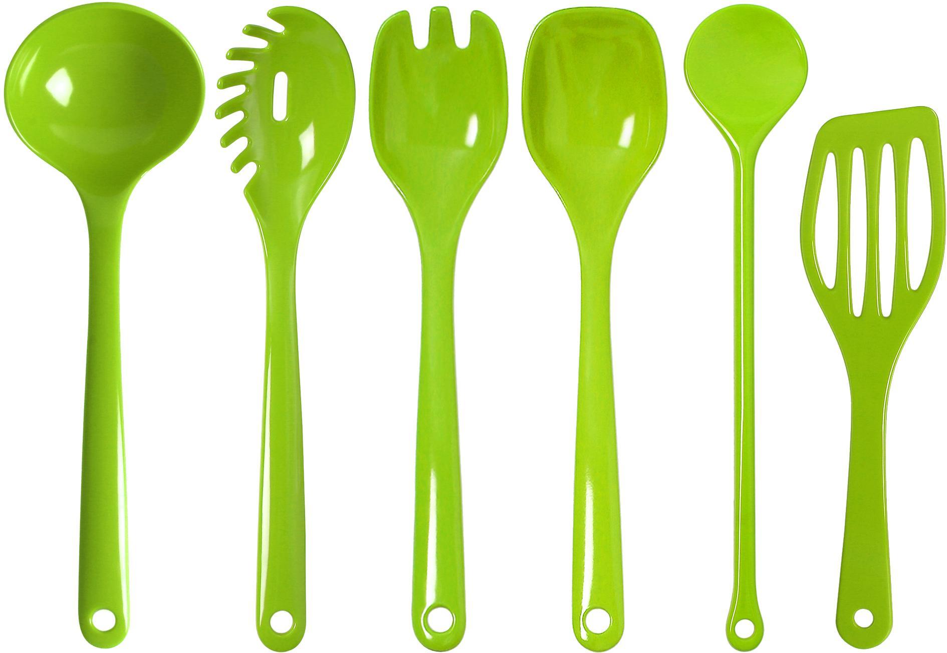 WACA Kochbesteck-Set, (Set, 6 tlg.) grün Kochbesteck-Set Kochbesteck Besteck Messer Haushaltswaren