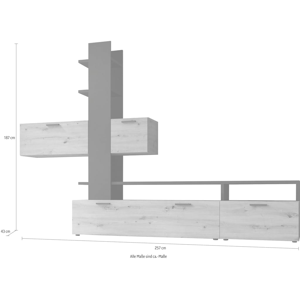 my home Wohnwand »Easy«, (Set, 5 St.), Breite 292 cm