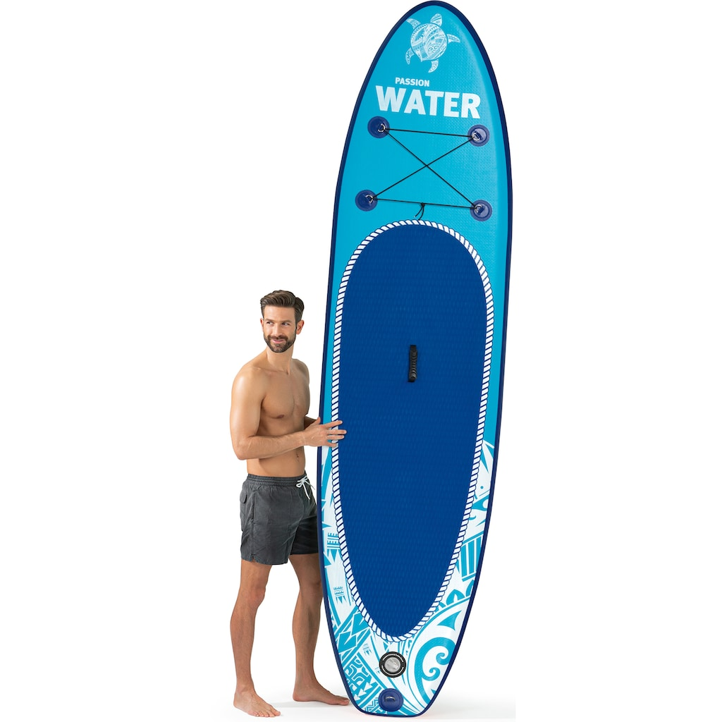 MAXXMEE Inflatable SUP-Board »MAXXMEE Stand-Up Paddle-Board 2021«, (Spar-Set, 7 tlg., mit Paddel, Pumpe und Transportrucksack)