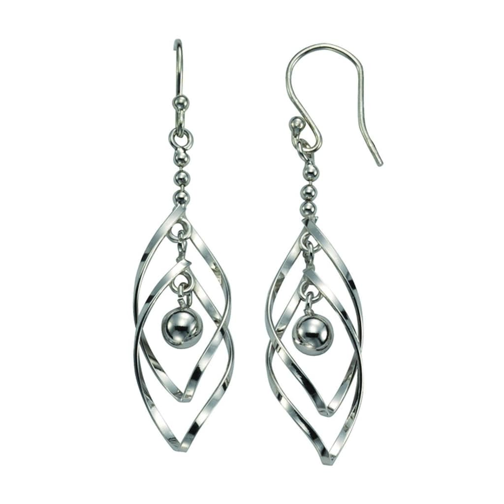 Vivance Paar Ohrhaken »925/- Sterling Silber beweglich«, rhodiniert