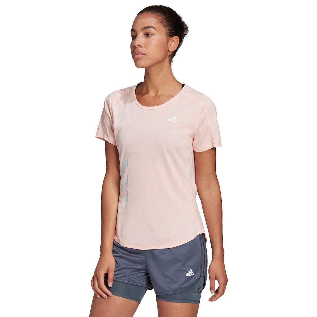 adidas Performance T-Shirt »RUN IT 3-STREIFEN FAST«