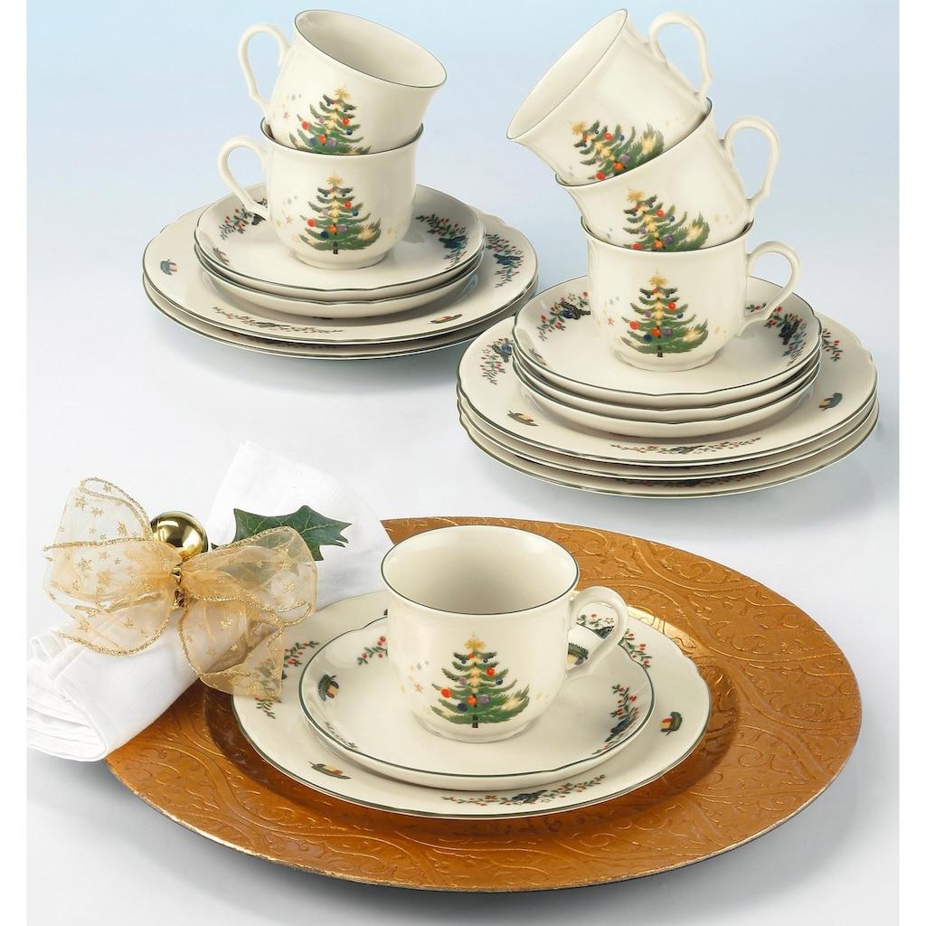 Seltmann Weiden Kaffeeservice »Marieluise Weihnachten«, (Set, 18 tlg.), Mikrowellengeeignet