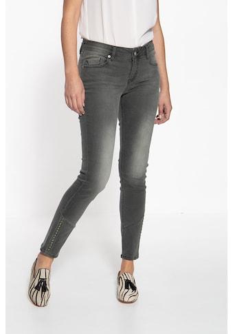 ATT Jeans Slim-fit-Jeans »Leoni«, mit Teilungsnähten und Nieten kaufen