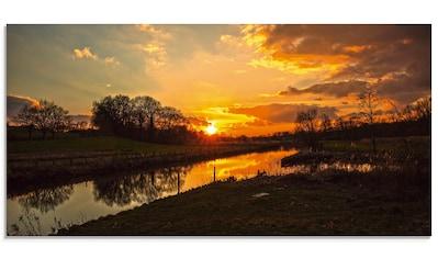 Artland Glasbild »Sonnenuntergang an der Trave«, Sonnenaufgang & -untergang, (1 St.) kaufen