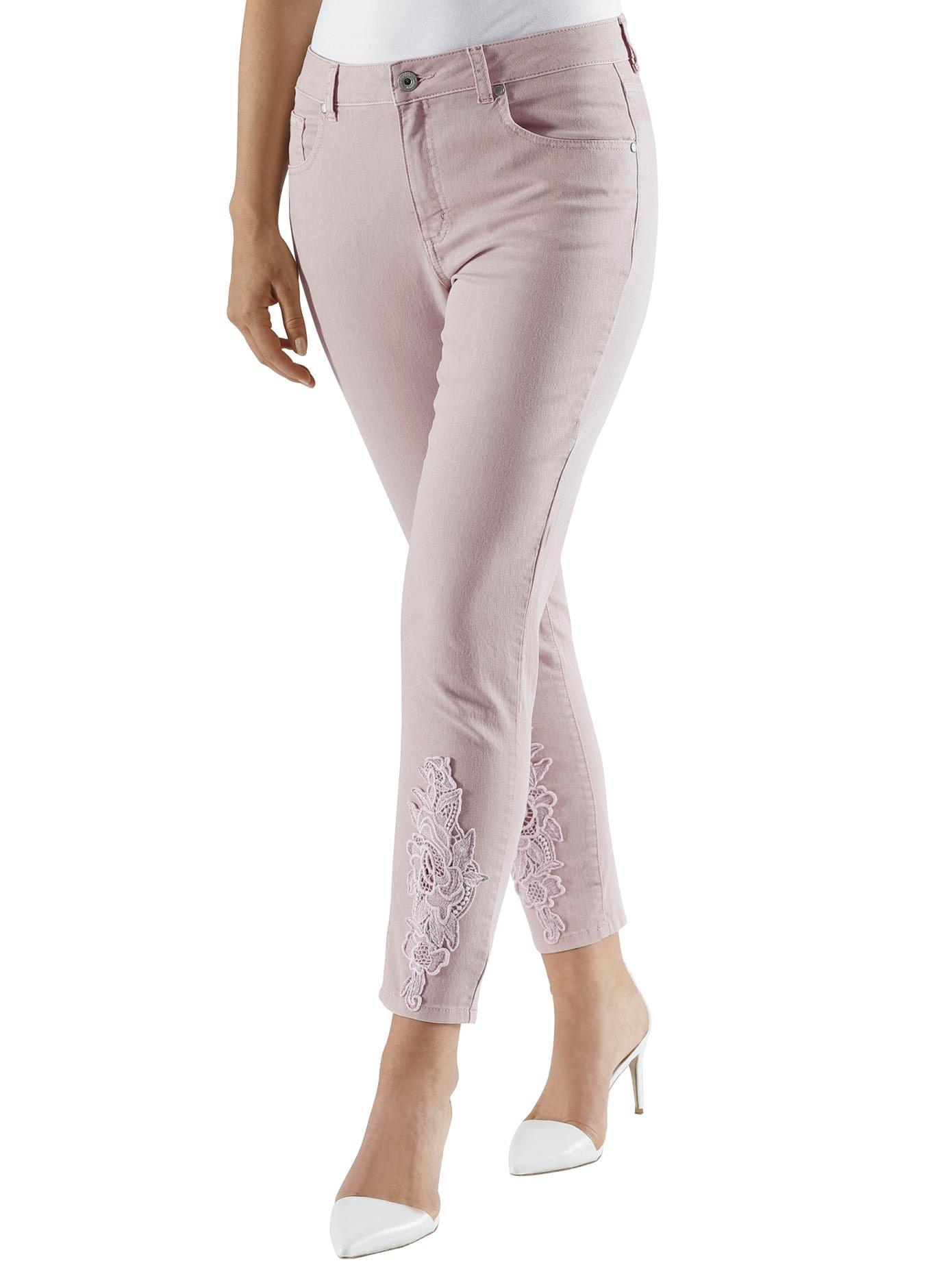 Lady 7/8-Hose aus elastischer Jeans-Qualität | Bekleidung > Hosen > 7/8-Hosen | Rosa | Jeans | Lady