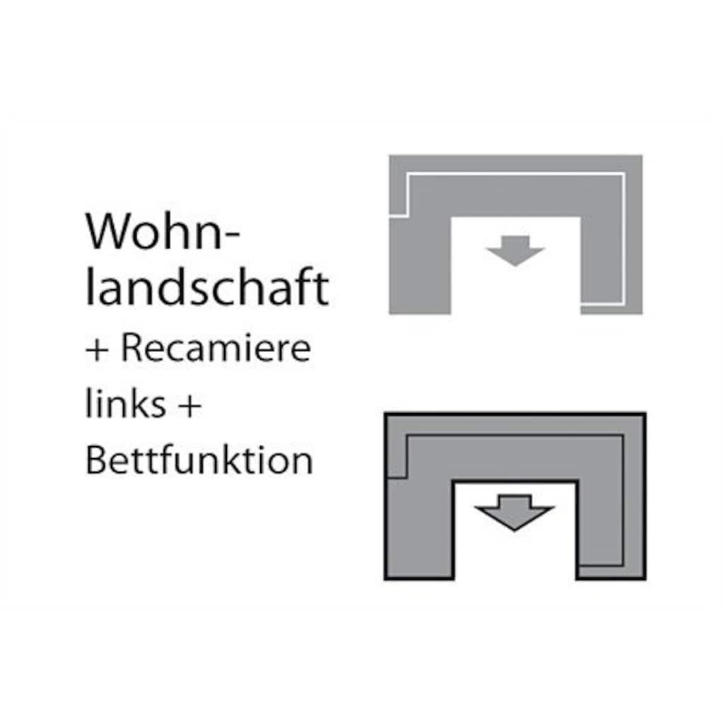 DOMO collection Wohnlandschaft »Amando«, wahlweise mit Bettfunktion, frei im Raum stellbar