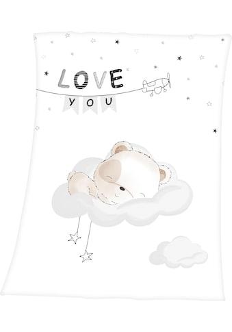 Baby Best Babydecke »Sleeping little bear«, mit niedlichem Teddy Design und Schriftzug kaufen