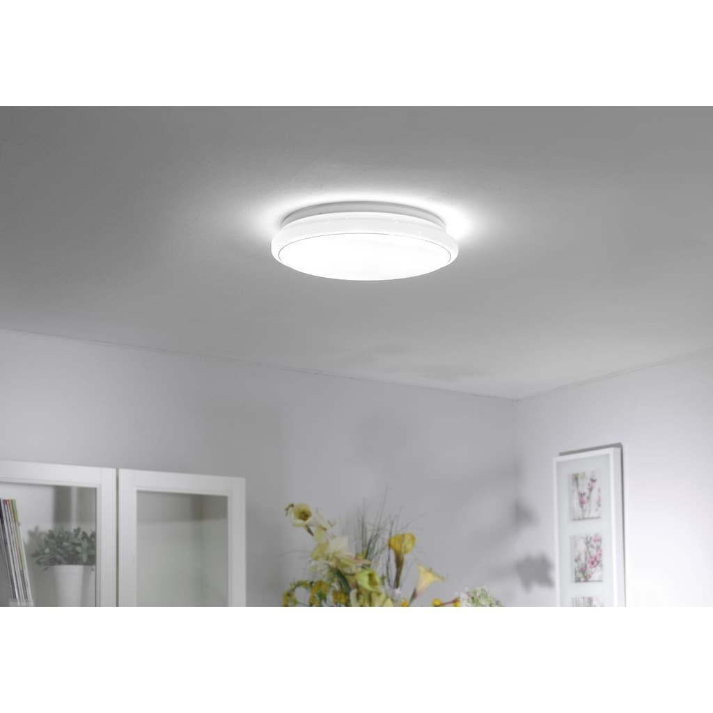 Leuchten Direkt Deckenleuchte »JUPITER«, LED-Board, 1 St., Warmweiß-Neutralweiß-Tageslichtweiß, CCT - Farbtemperaturregelung (verstellbar von 3000-5000K)|Dimmbar über Fernbedienung|Serienschalter|Memoryfunktion, Ø 80 cm