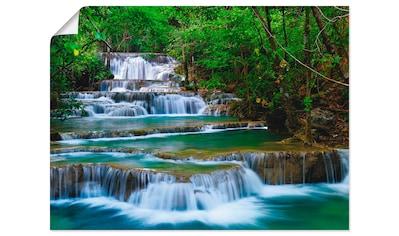Artland Wandbild »Tiefen Wald Wasserfall« kaufen