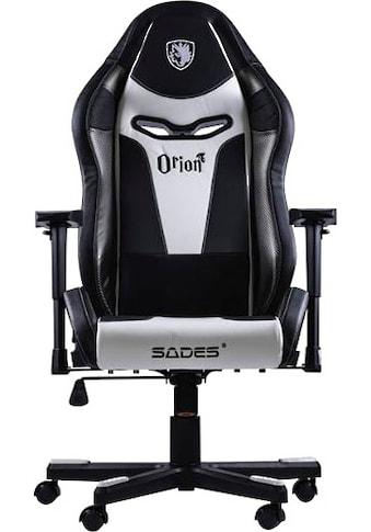 """Sades Gaming-Stuhl »""""Orion"""" schwarz/weiß, Kunstleder, höhenverstellbare-Armlehne,... kaufen"""