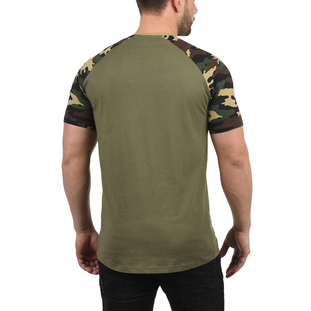 Solid Rundhalsshirt »Cahil«, Kurzarmshirt mit Tarnmuster-Print