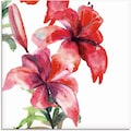 Artland Glasbild »Lilien«, Blumen, (1 St.)