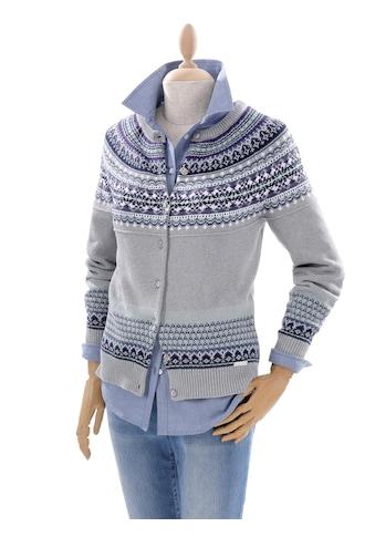 Casual Looks Strickjacke im typischen Norwegerdessin kaufen