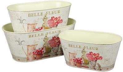Ambiente Haus Übertopf »Fleur-Blumentopf 3er Set«, (1 St.) kaufen