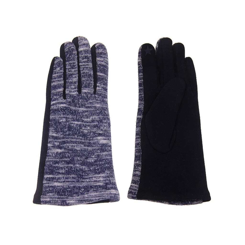 leslii Handschuhe in melierter Optik