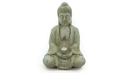 NOOR LIVING Teelichthalter »Buddha«, mit Teelichtglas, Höhe 40 cm kaufen