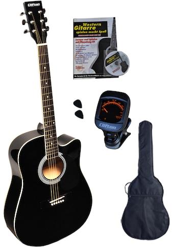 "Clifton Westerngitarre ""Black Cutaway"" 4/4 kaufen"