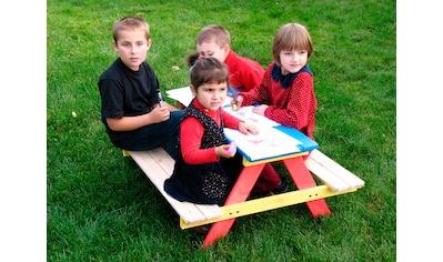 DOBAR Kinderpicknicktisch , B/L/H: 85/90/45 cm, für 4 Kinder kaufen