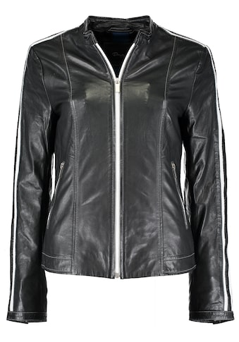 DNR Jackets Damen Lederjacke mit Kontrastelementen kaufen