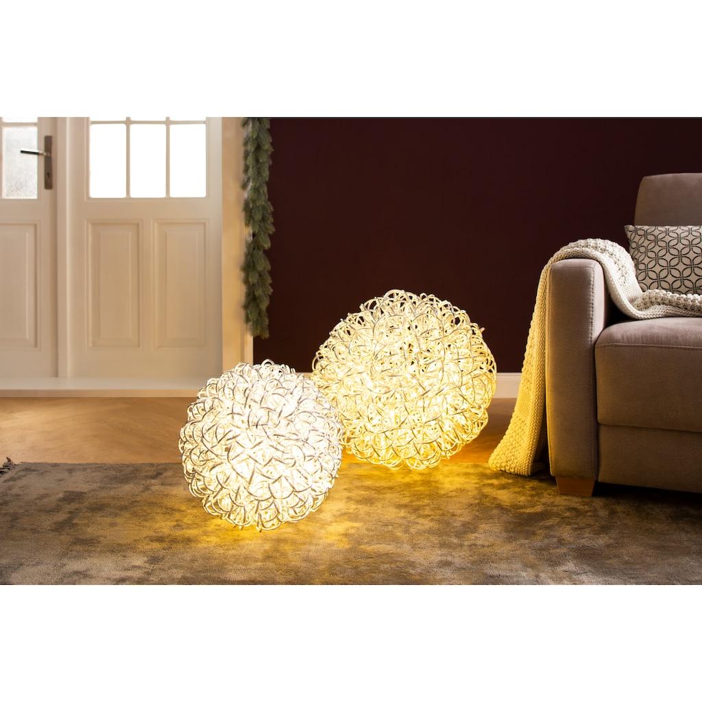 AM Design LED Dekolicht »Geflecht«, Warmweiß, in Kugelform