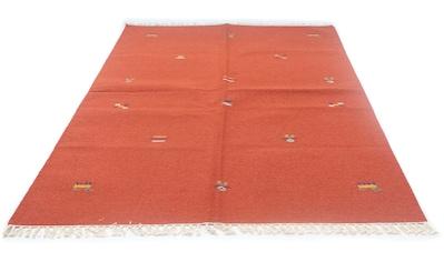 morgenland Wollteppich »Kelim Teppich handgewebt orange«, rechteckig, 6 mm Höhe, Kurzflor kaufen