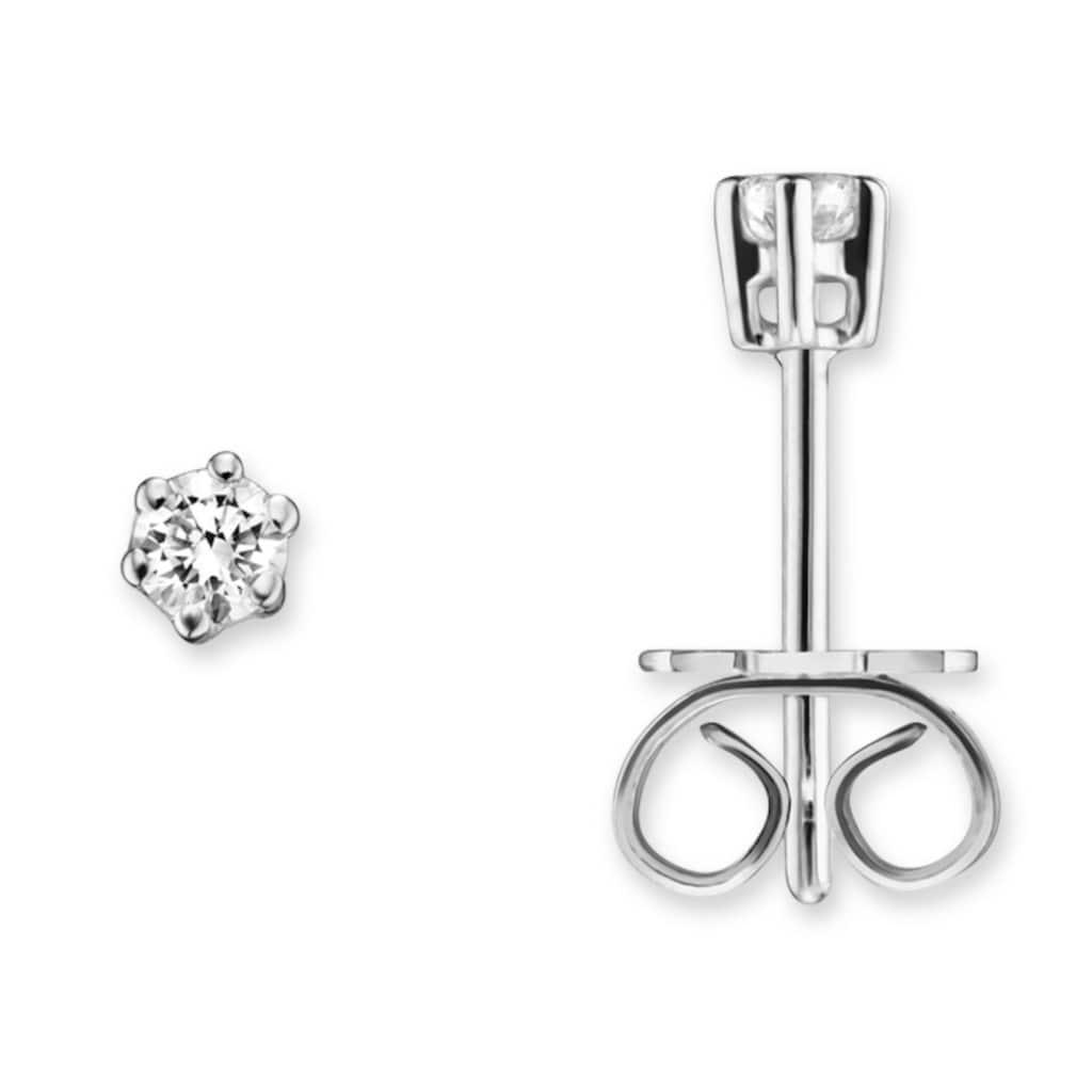 ONE ELEMENT Paar Ohrstecker »Ohrringe / Ohrstecker aus 585 Weißgold mit 0,15 ct Diamant«