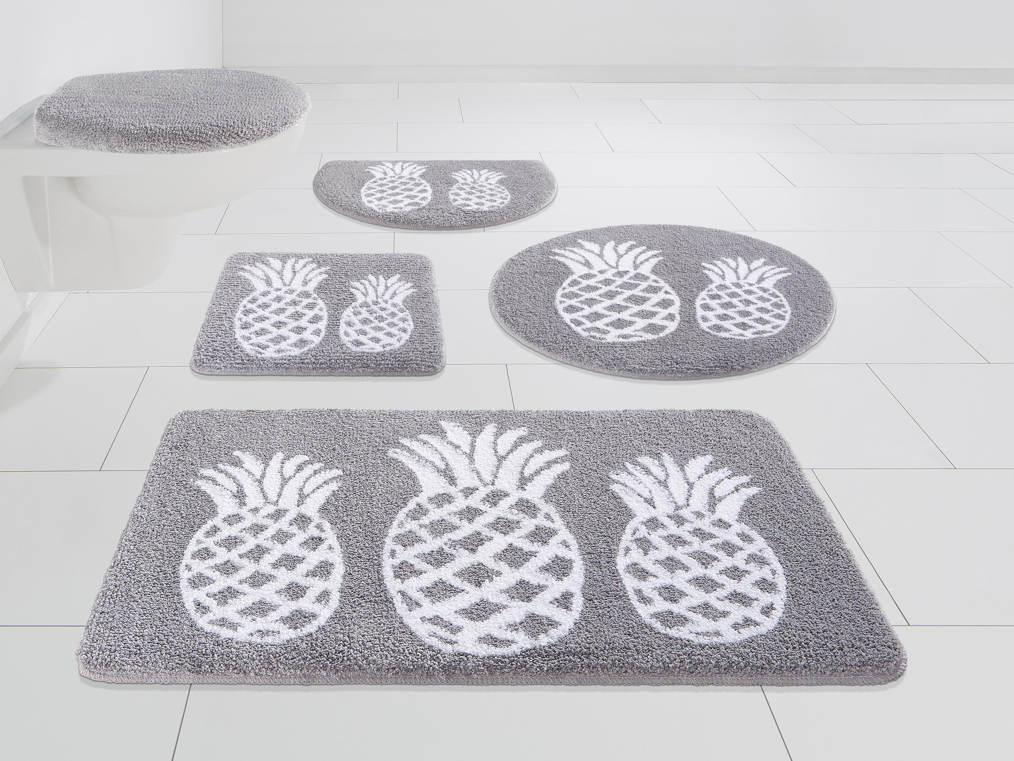 Badematte Ananas my home Höhe 12 mm strapazierfähig