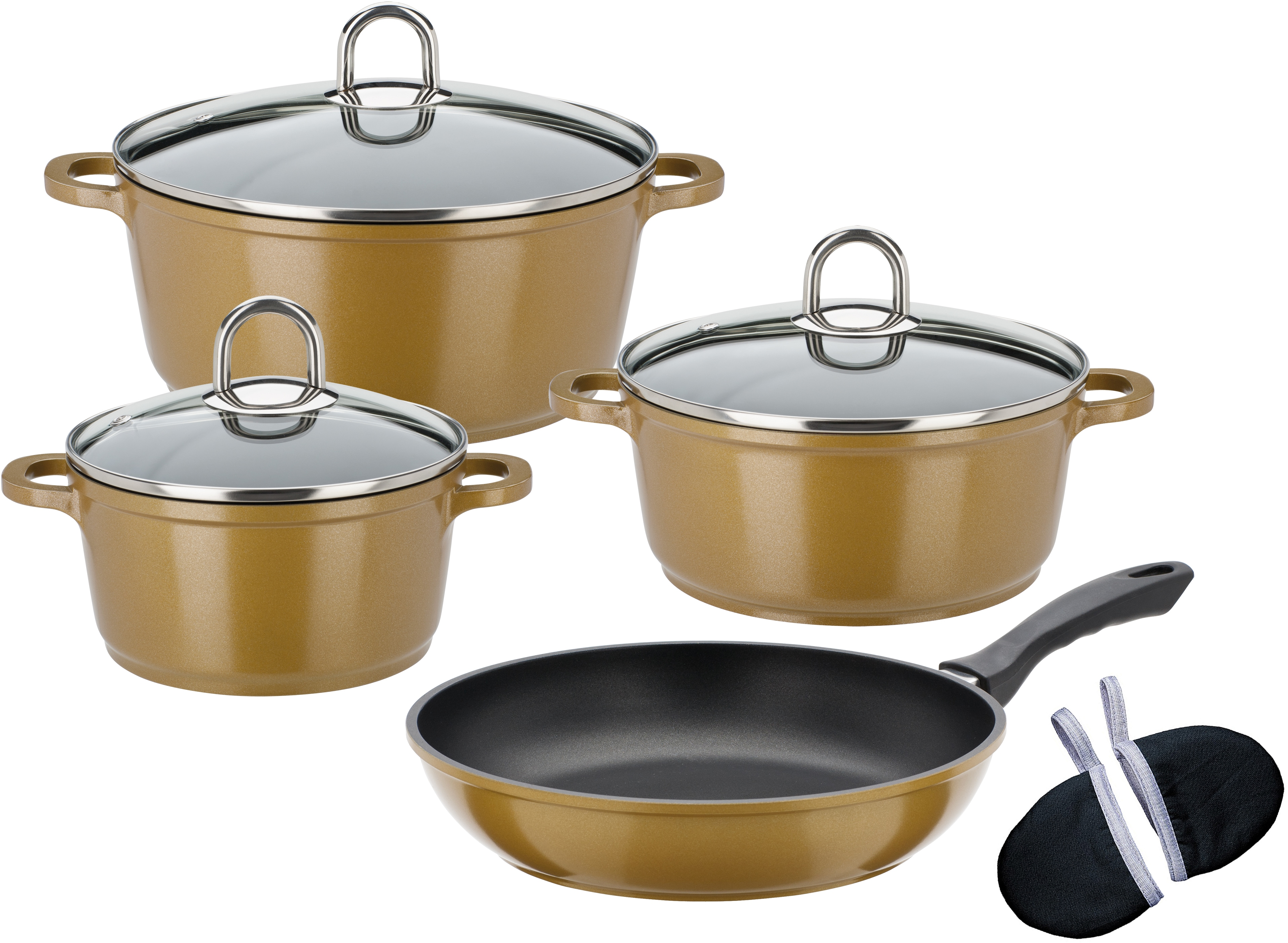 GSW Topf-Set Gourmet Premium Color (Set 9-tlg) Wohnen/Haushalt/Haushaltswaren/Töpfe/Topfsets