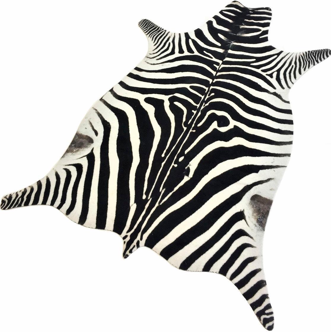 Teppich Zebra Look Living Line tierfellförmig Höhe 7 mm maschinell getuftet