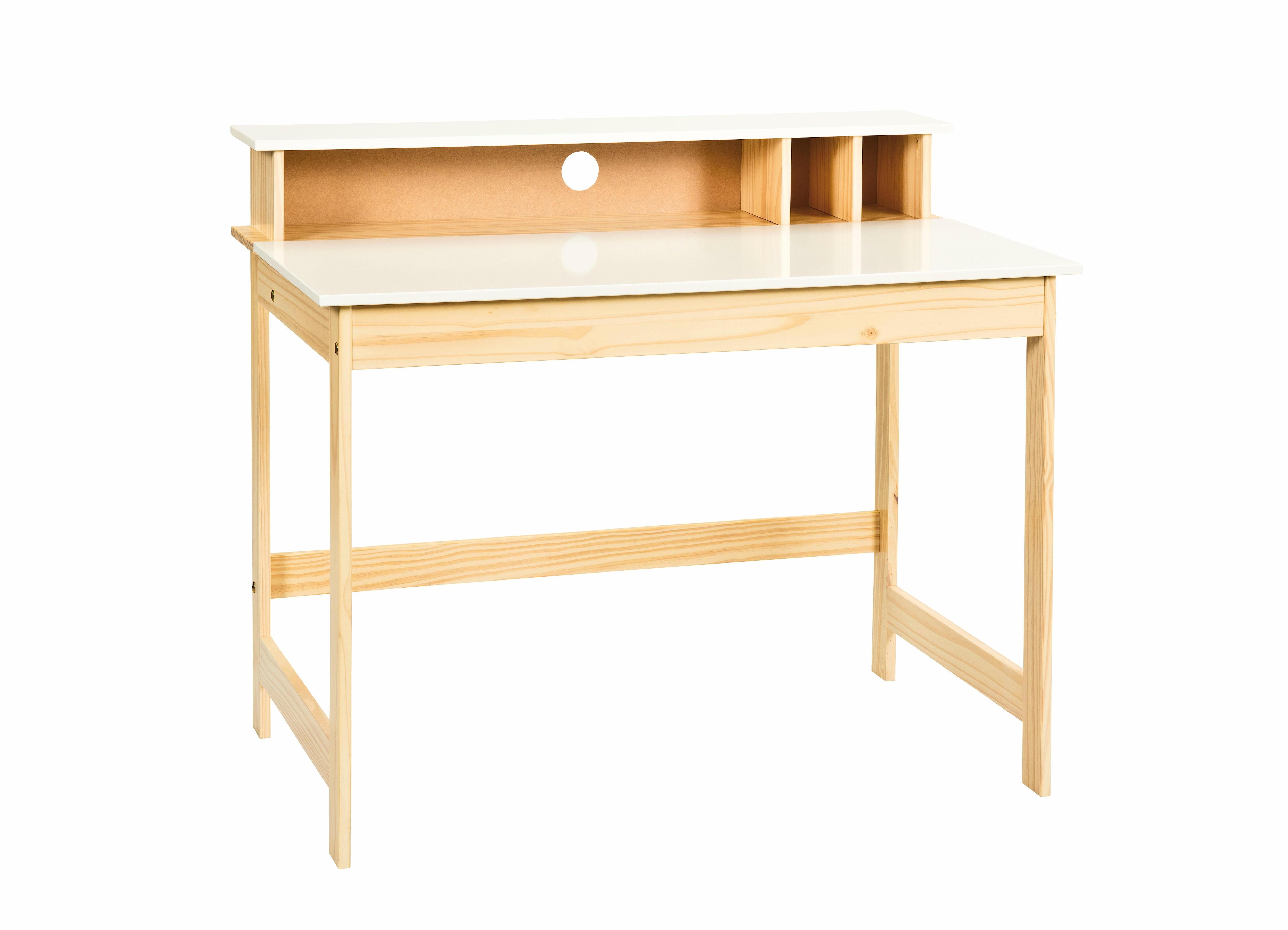 Home affaire Schreibtisch Matheo mit aufklappbarer Arbeitsplatte Breite 110 cm