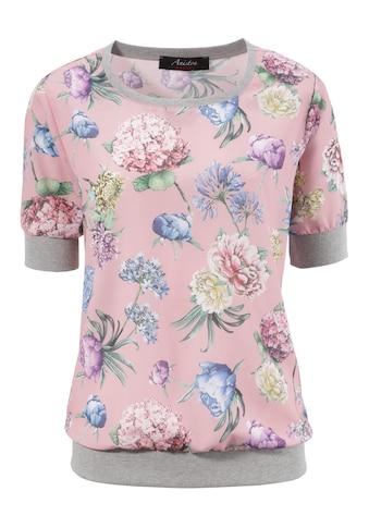 Aniston CASUAL Shirtbluse, mit sportiven Rippbündchen kaufen