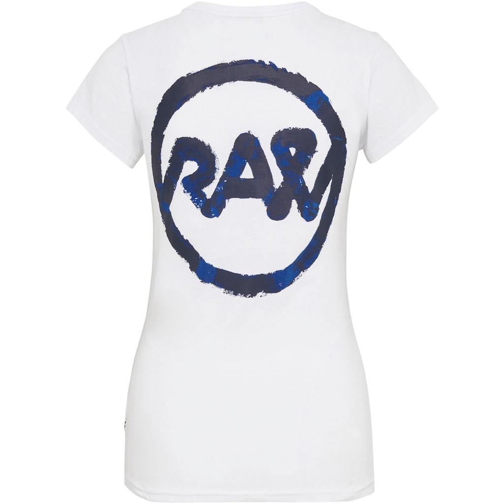 G-Star RAW T-Shirt »Slim Fit Tulip Print T-Shirt«, mit Tulpengrafik auf der Brust