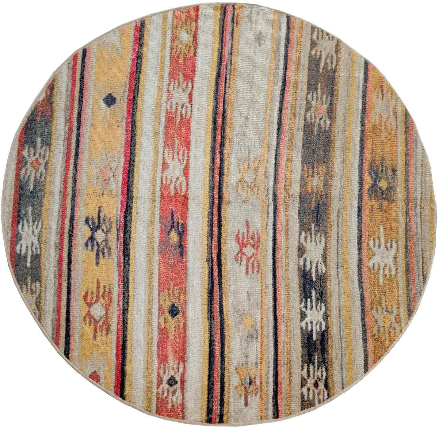Paco Home Teppich Artigo 402, rund, 4 mm Höhe, In- und Outdoor geeignet, Vi günstig online kaufen