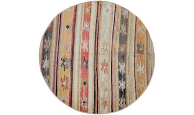 Paco Home Teppich »Artigo 402«, rund, 4 mm Höhe, In- und Outdoor geeignet, Vintage... kaufen