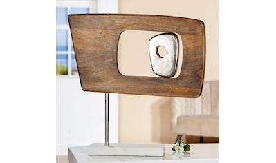 GILDE Dekoobjekt »Skulptur Marcire rechteckig«, Höhe 48 cm, aus Holz und Metall,... kaufen