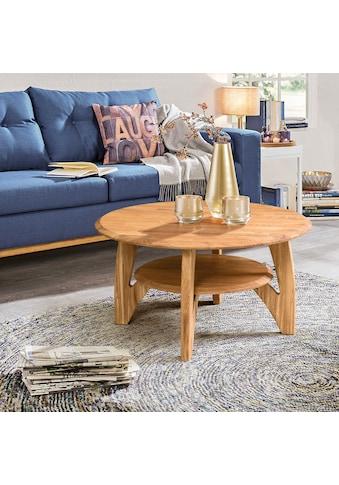 andas Couchtisch »Wankde«, aus schönem massivem Eichenholz, mit einem Ablageboden,... kaufen