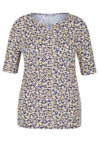 Rabe T - Shirt mit Allover - Blumendruck und Spangendetail kaufen
