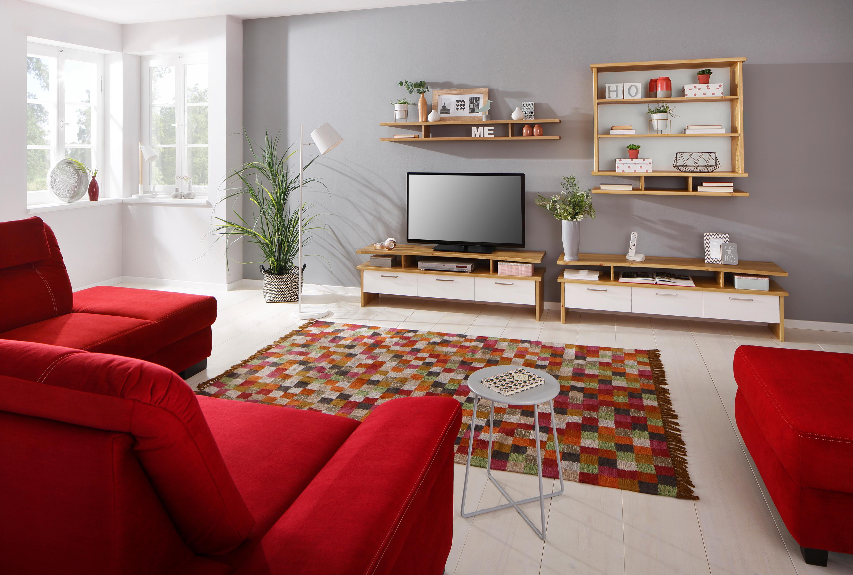 Home affaire Wohnwand »Ixo« aus massiver Kiefer, 4-tlg.
