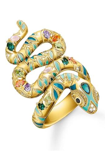 THOMAS SABO Fingerring »Schlangen-Optik, TR2338-974-7-50,52,54,56,58,60«, mit Zirkonia... kaufen