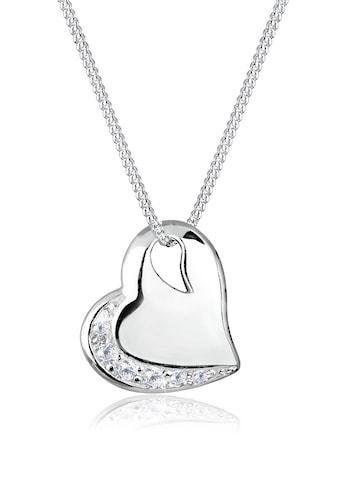 Elli Collierkettchen »Herz Liebe Zirkonia Edelstein 925 Silber« kaufen