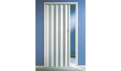 Kunststoff - Falttür , Höhe nach Maß, weiß ohne Fenster kaufen