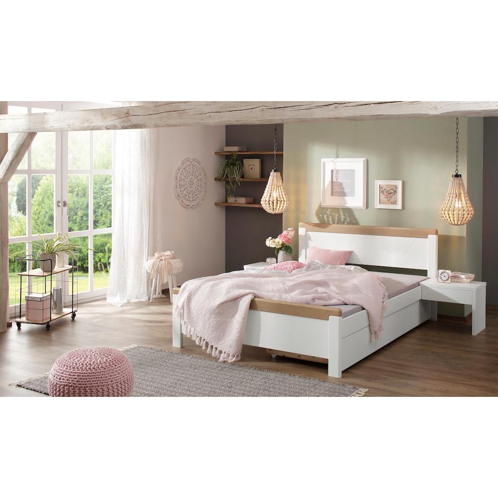 Home affaire Holzbett »Carita«, im klassischen Landhausstil, in 3 verschiedenen Größen