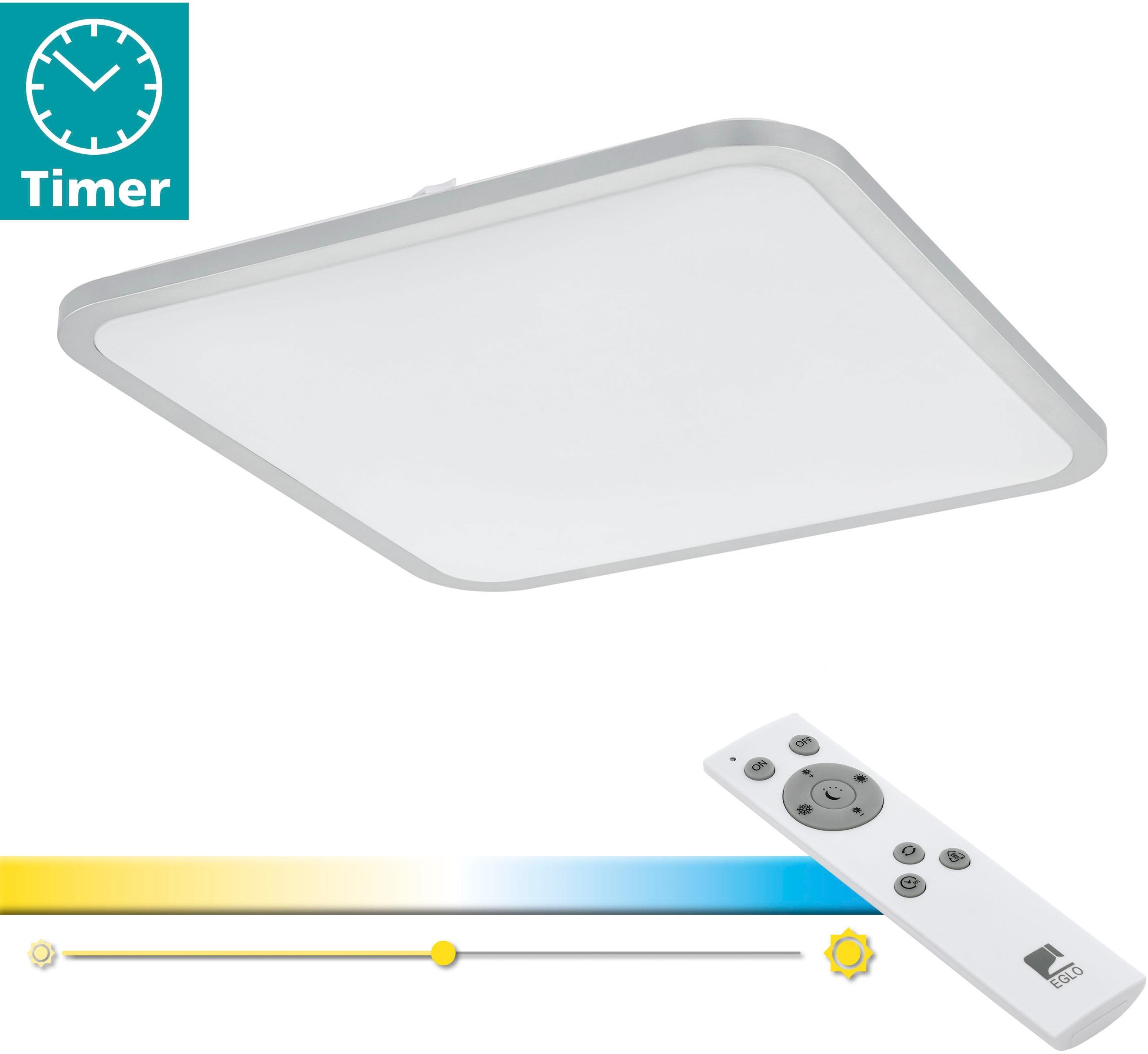 EGLO Deckenleuchte COGOLETO, LED-Board, Extra-Warmweiß-Kaltweiß-Neutralweiß-Tageslichtweiß-Warmweiß, Steuerung über Fernbedienung